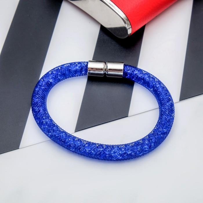 Браслет со стразами Стардаст стиль, цвет синий