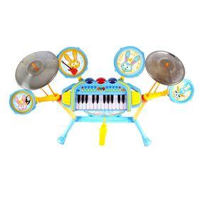 Барабанная установка с синтезатором «Зайчата»