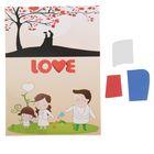 Аппликация - открытка 3D «Love», из ЕVA
