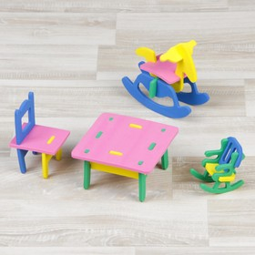 """Конструктор """"Мягик"""", кукольная мебель для детской комнаты, цвет МИКС"""