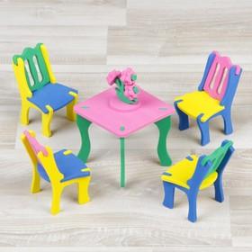 """Конструктор """"Мягик"""", кукольная мебель для столовой, цвет МИКС"""