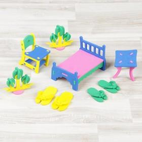 """Конструктор """"Мягик"""", кукольная мебель для спальни, цвет МИКС"""