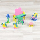 """Конструктор """"Мягик"""", кукольная мебель, туалетный столик, цвет МИКС"""