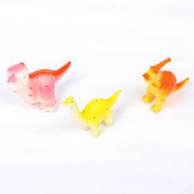 Набор игрушек для ванны «Динозаврики», 3 шт., цвета МИКС