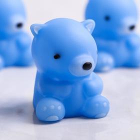 Набор для ванной «Мишки»: мыльница, игрушки 3 шт, цвет МИКС