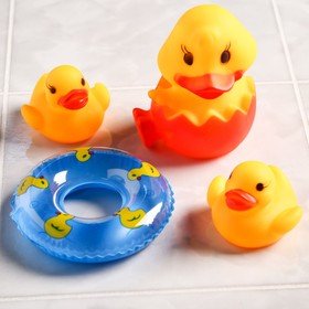 Набор для игры в ванне «Утята с кругом», 3 шт., цвета МИКС