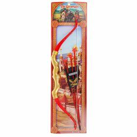 """Лук """"Три Богатыря"""" стрелы на присосках 68*20 см B289070-R3"""