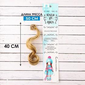"""Волосы - тресс для кукол """"Кудри"""" длина волос 40 см, ширина 50 см, № 24"""