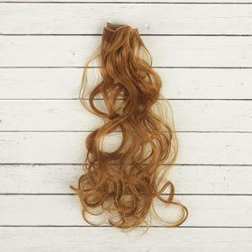 """Волосы - тресс для кукол """"Кудри"""" длина волос 40 см, ширина 50 см, №27В"""