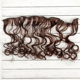 """Волосы - тресс для кукол """"Кудри"""" длина волос 40 см, ширина 50 см, №6А"""