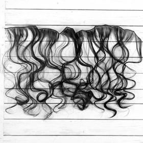 """Волосы - тресс для кукол """"Кудри"""" длина волос 40 см, ширина 50 см, №1"""