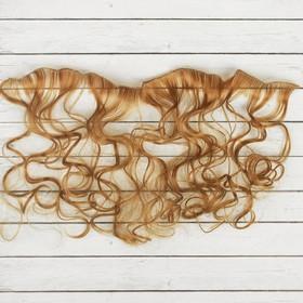 """Волосы - тресс для кукол """"Кудри"""" длина волос 40 см, ширина 50 см, №27А"""