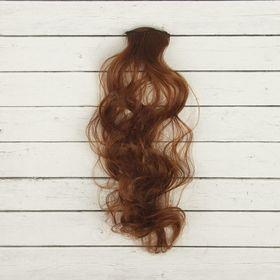 """Волосы - тресс для кукол """"Кудри"""" длина волос 40 см, ширина 50 см, №30"""
