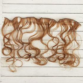 """Волосы - тресс для кукол """"Кудри"""" длина волос 40 см, ширина 50 см, №30А"""