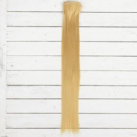"""Волосы - тресс для кукол """"Прямые"""" длина волос 40 см, ширина 50 см, №15"""