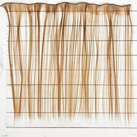 """Волосы - тресс для кукол """"Прямые"""" длина волос 40 см, ширина 50 см, №30В"""