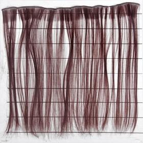 """Волосы - тресс для кукол """"Прямые"""" длина волос 40 см, ширина 50 см, №6А"""