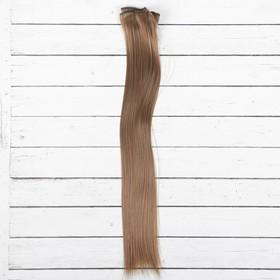 """Волосы - тресс для кукол """"Прямые"""" длина волос 40 см, ширина 50 см, №18Т"""