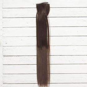 """Волосы - тресс для кукол """"Прямые"""" длина волос 40 см, ширина 50 см, №4"""