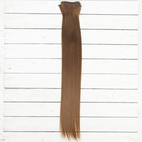 """Волосы - тресс для кукол """"Прямые"""" длина волос 40 см, ширина 50 см, №8В"""