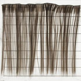 """Волосы - тресс для кукол """"Прямые"""" длина волос 40 см, ширина 50 см, №8"""