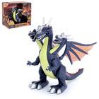 """Динозавр """"Дракон"""", работает от батареек, свет и звук, цвета:МИКС"""