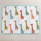 Коврик детский на фольгированной основе «Весёлые жирафики», размер 120х90 см