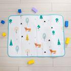 Коврик детский на фольгированной основе «Лисички», размер 120х90 см
