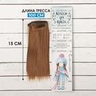 """Волосы - тресс для кукол """"Прямые"""" длина волос 15 см, ширина 100 см, цвет № 6"""