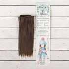 """Волосы - тресс для кукол """"Прямые"""" длина волос 15 см, ширина 100 см, цвет № 6К"""