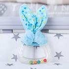 Игрушка - погремушка с колечком мягкая «Для маленьких джентльменов», с прорезывателем, цвета МИКС