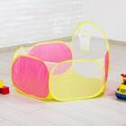 """Манеж - сухой бассеён для шариков """"Баскетбол"""", розовый, d сетки: 14 см"""