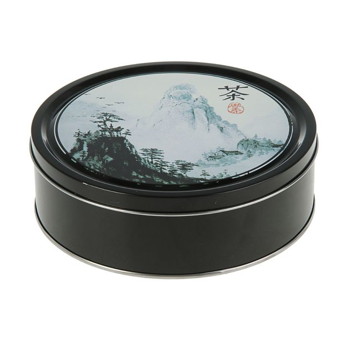 Подарочная коробка Китай, чёрный, 19 х 19 х 6,2 см