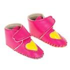 """Ботинки для куклы """"Сердце"""", длина подошвы 7,5 см, 1 пара, цвет розовый"""