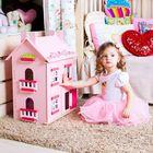 Большой домик из дерева для кукол «Милана» с 13 предметами мебели