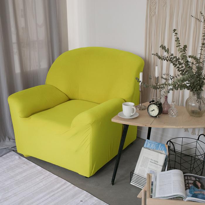 Чехол для мягкой мебели в детскую Collorista на кресло, наволочка 40х40 см в подарок, зелёный