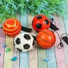 """Мягкий мяч на резинке """"Спорт"""", цвета МИКС"""