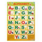 """Плакат """"Английский алфавит"""" жёлтый фон, А2"""