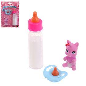 Волшебная бутылочка для кукол, набор с соской и игрушкой, МИКС