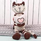 """Мягкая игрушка """"Кот Полосатик с сердцем"""", 33 см"""