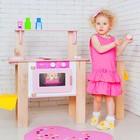 Деревянная кухня-трансформер для девочек «Ванильный смузи» с 16 аксессуарами