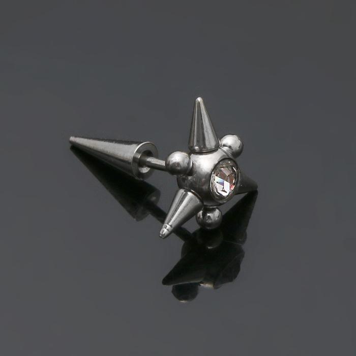 Пирсинг Булава, цвет белый в серебре, фас 12 шт