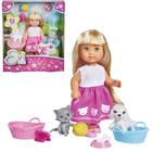 """Кукла """"Еви"""" и домашние питомцы, 12 см"""