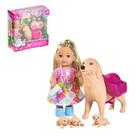 """Кукла """"Еви"""" с собачкой и щенками"""", 12 см"""