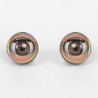 Глаза моргающие с ресничками, полупрозрачные, набор 2 шт, цвет коричн, размер 1 шт 1,7 см