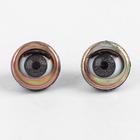 Глаза моргающие с ресничками, полупрозрачные, набор 2 шт, цвет коричн, размер 1шт 2 см