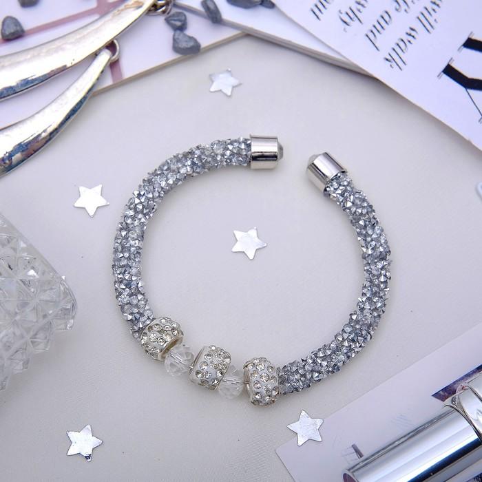 Браслет Шанталь марджери, цвет белый в серебре