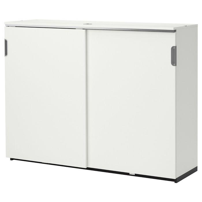 Ikea 2488183 шкаф с раздвижными дверцами, цвет белый галант .