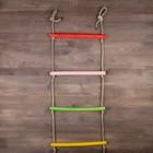 Лестница веревочная деревянная, окрашенная, 1,5 м
