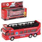 Автобус металлический двухэтажный 15 см, открытый верх, двери открываются